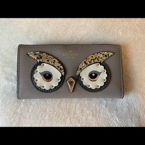 """Kate Spade """"owl eyes"""" wallet. Sparkles 3D"""